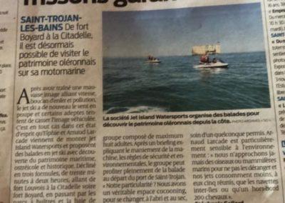 Jet Ski Oléron dans le journal